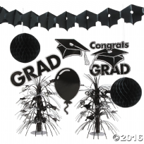 Black Graduation Decoration Kit